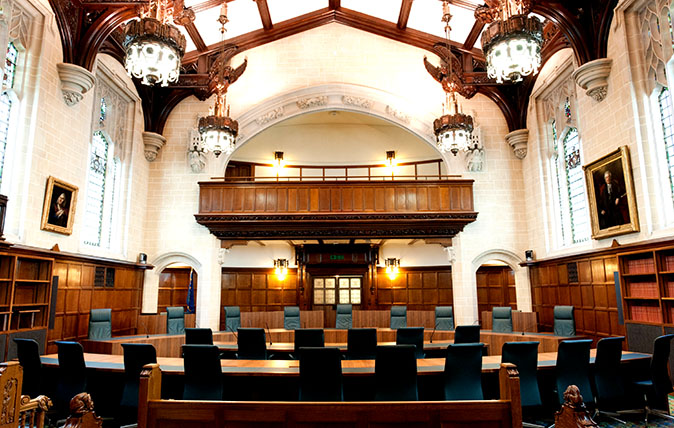 Courtroom 1 of The Supreme Court of the United Kingdom, London, UK