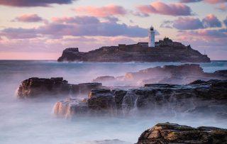 Godrevy Lighthouse, nr St Ives, Cornwall, England
