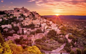 The historic village of Gordes in the Provence, France at sunrise