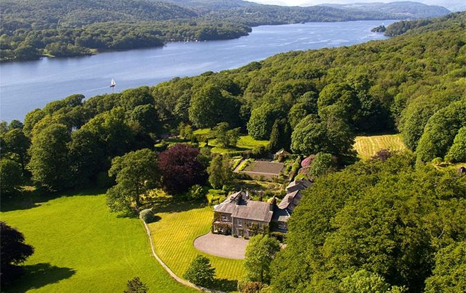 A country estate on the shores of Lake Windermere, complete with its own boathouse