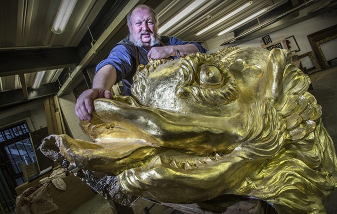 Alan Lamb, joinery and woodwork conservator, who runs Swan Farm Studios. (Picture: Mark Williamson/Country Life)