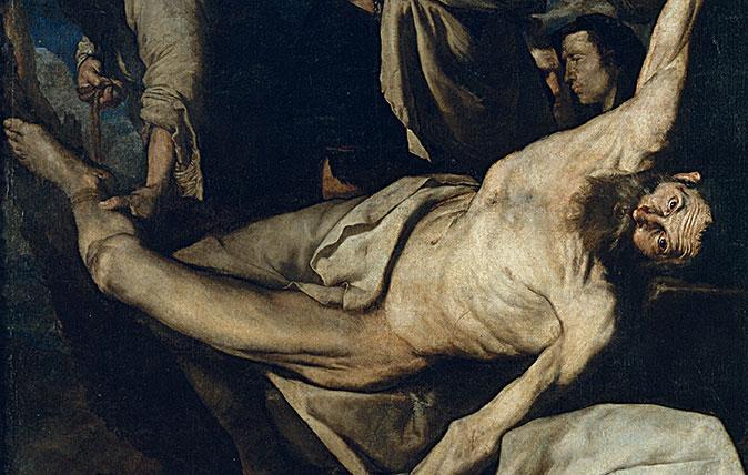 Jusepe de Ribera, Martyrdom of Saint Bartholomew, 1644, Oil on canvas, 202 x 153 cm, Museu Nacional d'Art de Catalunya, Barcelona. ©Museu Nacional d'Art de Catalunya, Barcelona, 2018. Photo: Calveras/Mérida/Sagristà.