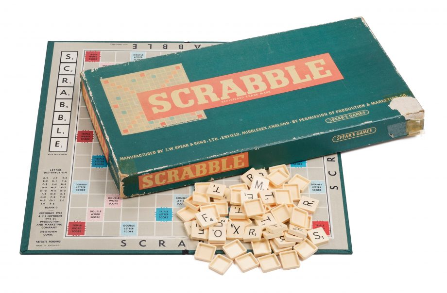 An original vintage game of Scrabble by Spears Games