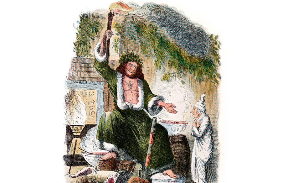 Illustration from an edition of A Christmas Carol by Charles Dickens