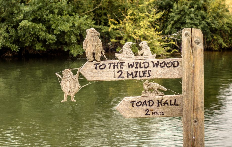 Wind In The Willows Signpost Berkshire UK