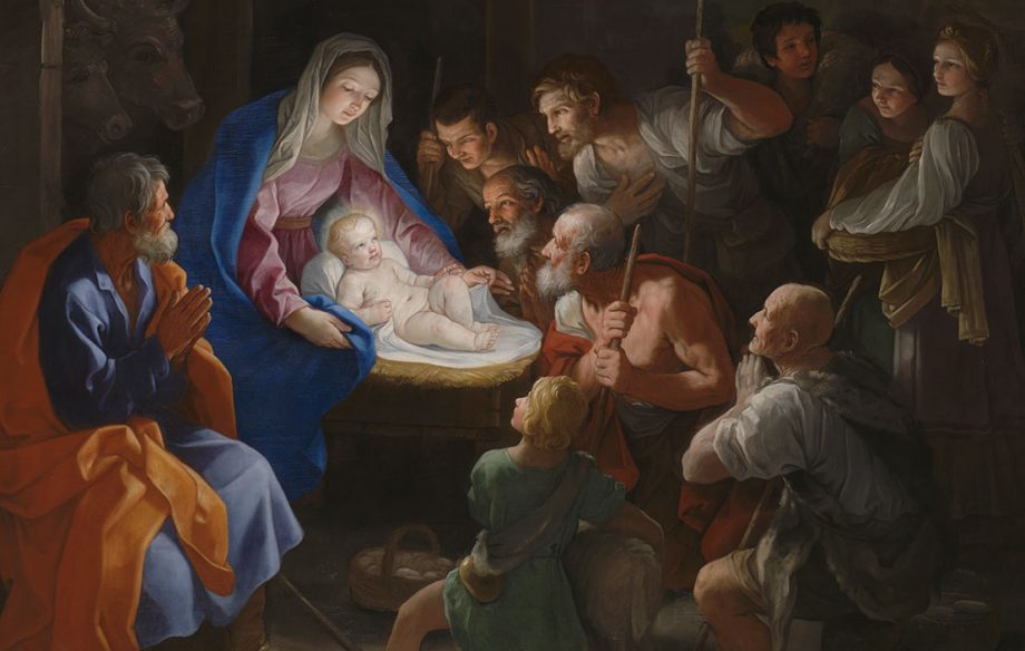 The Adoration of the Shepherds by Guido Reni (1640). Picture: The National Gallery, London