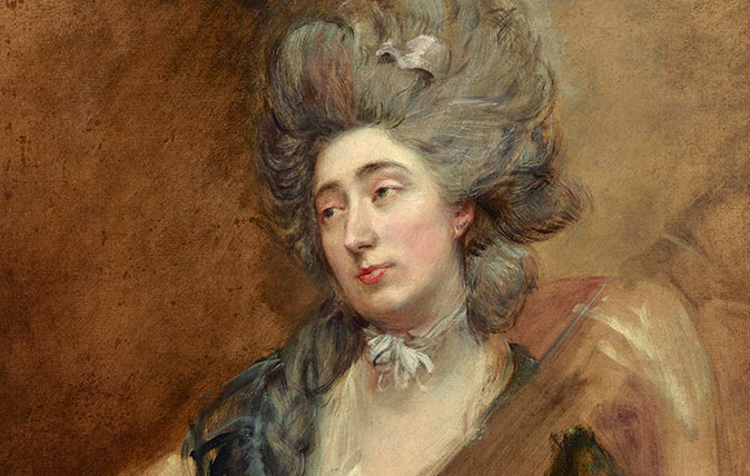 'Margaret Gainsborough, the Artist's Daughter, Playing a Cittern', by Thomas Gainsborough