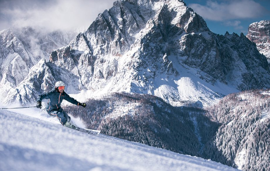 Skiing in the Dolomites - 3Zinnen ski area