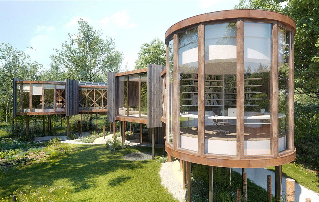 A chance to build an outrageously beautiful treehouse within glorious Cotswolds woodland