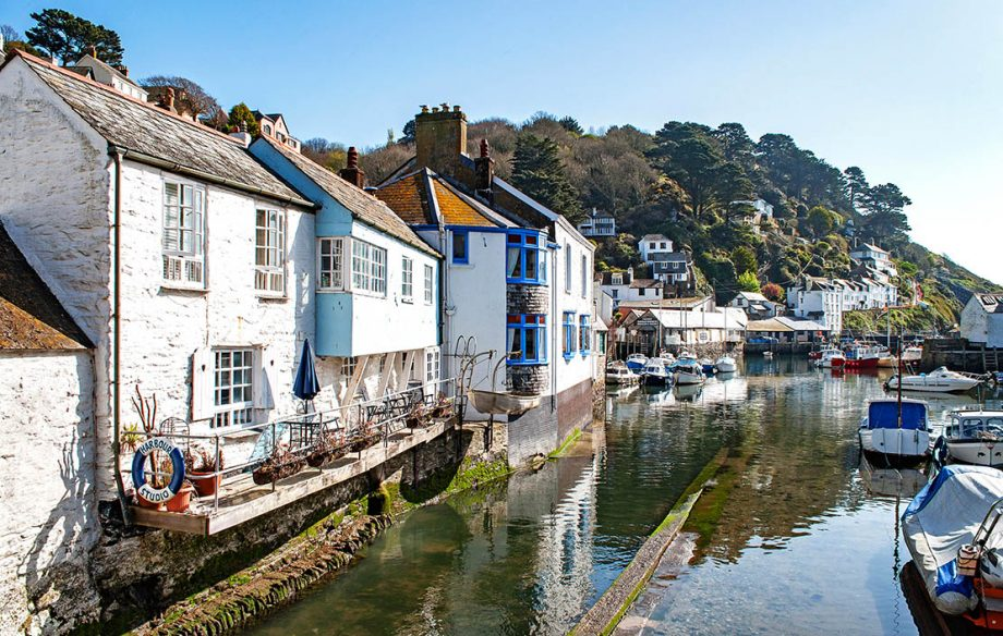 Harbourside at the village of Polperro in Cornwall