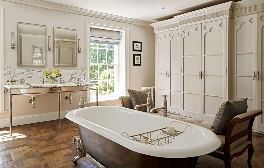 bathroom in a complete refurbishment of a Grade II-listed Georgian rectory