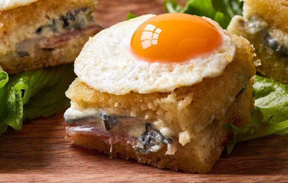 Mini croque madame recipe with Saint Agur cheese