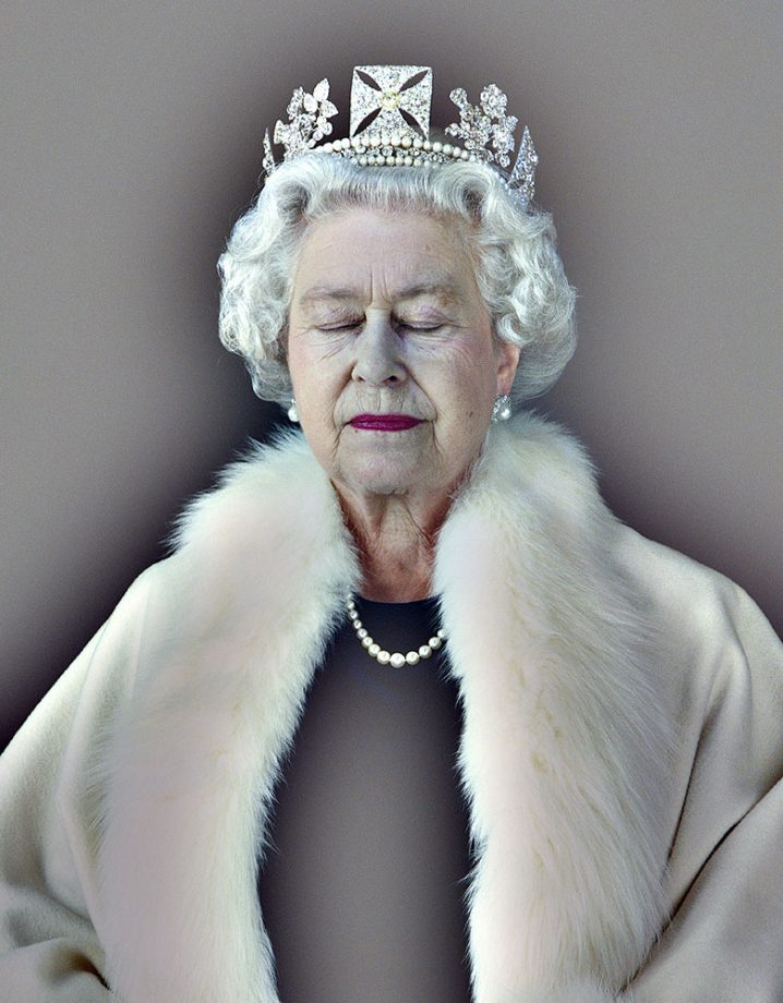 Queen Elizabeth II ('Lightness of Being'), 2007, by Chris Levine (b.1960), 45¼in by 45in, lenticular print on lightbox, National Portrait Gallery, London.