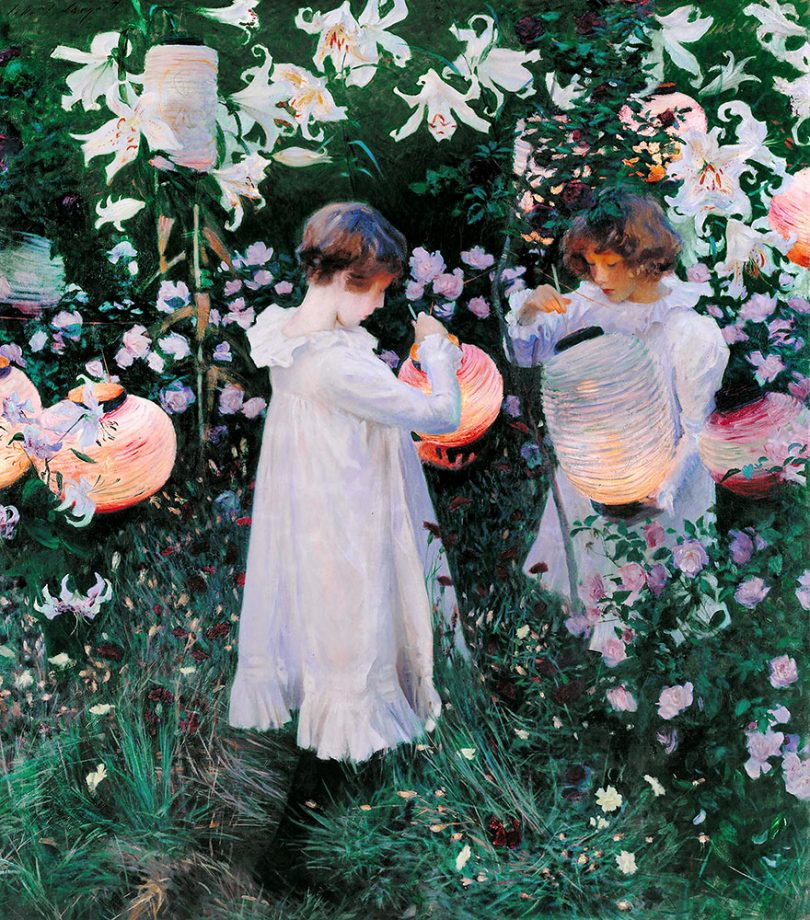 John Singer Sargent, Carnation, Lily, Lily, Rose, Circa 1885, Oil on canvas, Tate Britain, London, England.