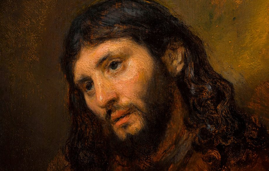 Rembrandt's Study of the Head and Clasped Hands of a Young Man as Christ in Prayer