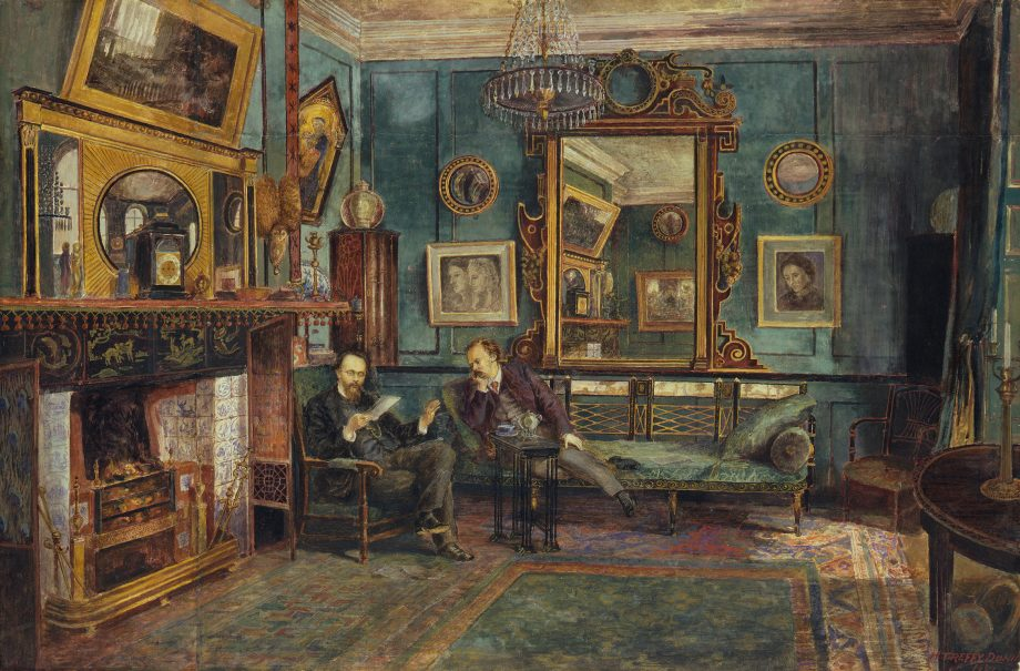 Henry Treffry Dunn's 'Dante Gabriel Rossetti and Theodore Watts-Dunton at Tudor House', at the Watts Gallery show