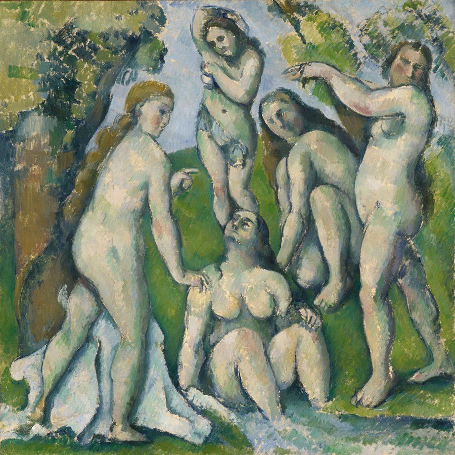 Five Bathers, 1885–87, by Paul Cézanne (1839–1906), 26in by 26in, Kunstmuseum, Basel, Switzerland