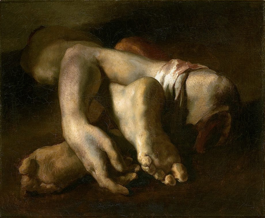 Study of Feet and Hands, c.1818-19 (oil on canvas) by Gericault, Theodore (1791-1824); 52x64 cm. Musee Fabre, Montpellier, France