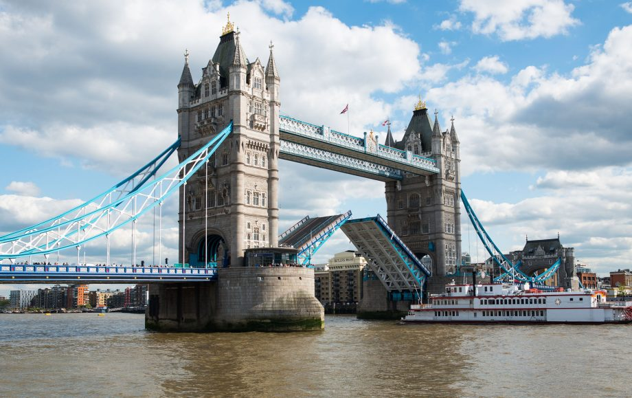 Tower Bridge still has the power to draw gasps as it opens to let a ship pass through.