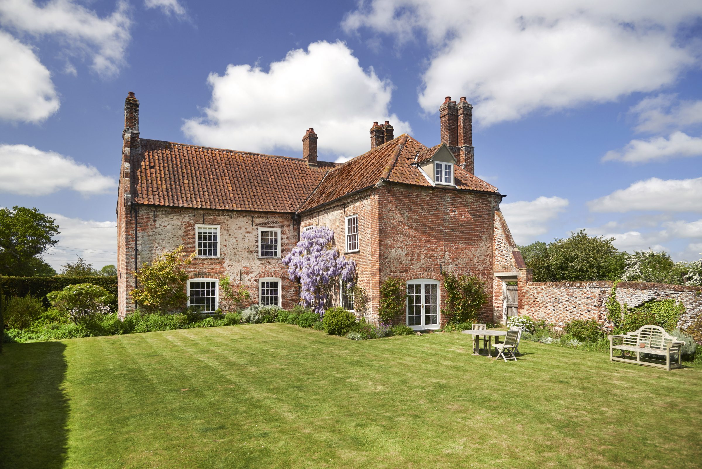 A wisteria-clad Suffolk farmhouse up for sale for the first time in two centuries - Country Life