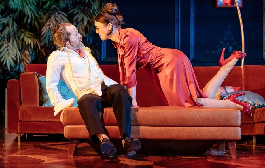 Denis O'Hare and Olivia Williams in Tartuffe