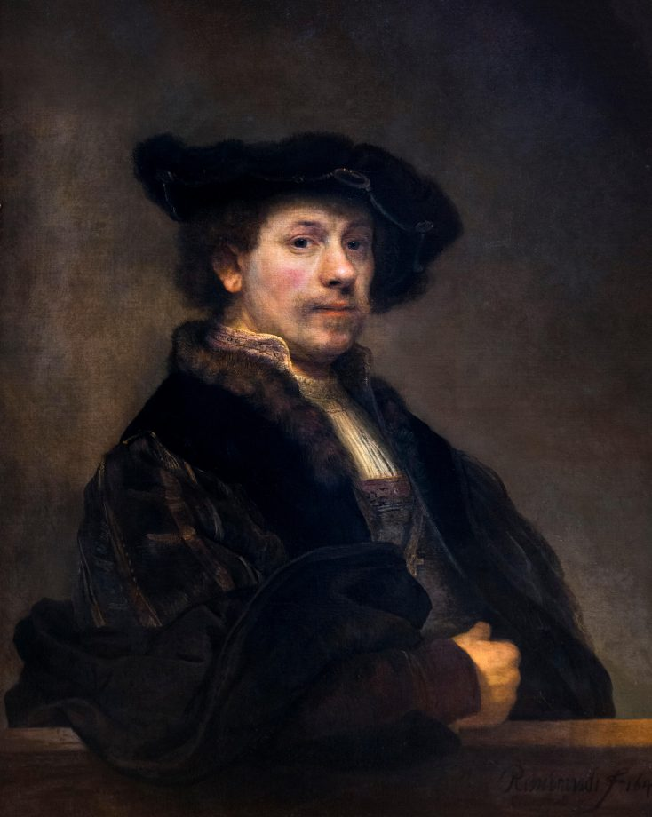 Rembrandt, Self Portrait at the Age of 34 oil on canvas, c.1640.