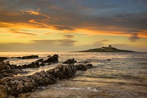 Sunset over the island of Isola delle Femmine