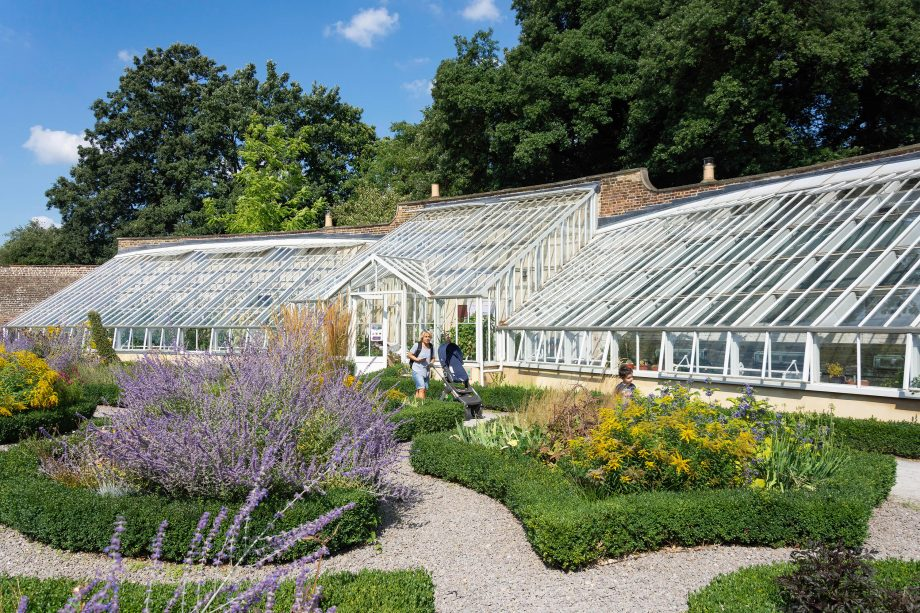 The Walled Garden and glasshouse at Fulham Palace Gardens