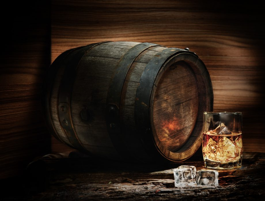 Barrel and whiskey