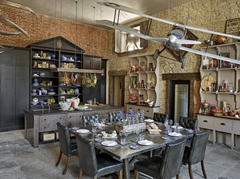 A Grade I-listed kitchen, sympathetically transformed with a touch of drama and a flight of fancy