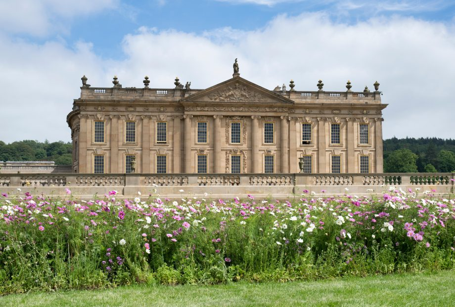 Chatsworth House for the RHS Chatsworth flower show 2018. Bakewell, Derbyshire.