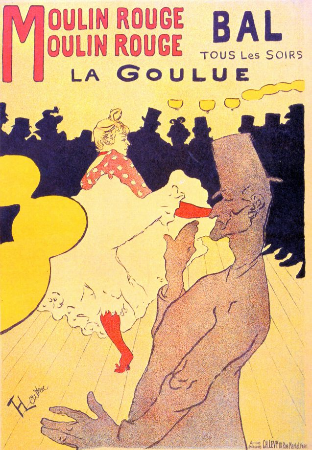 Henri de Toulouse-Lautrec's poster for Moulin Rouge / La Goulue 1891.