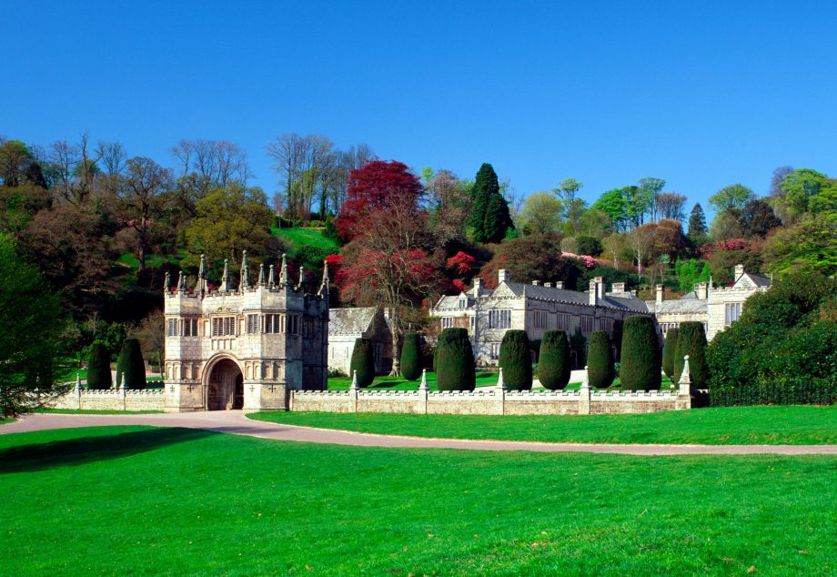 Gateway to Lanhydrock house, Cornwall, England, UK