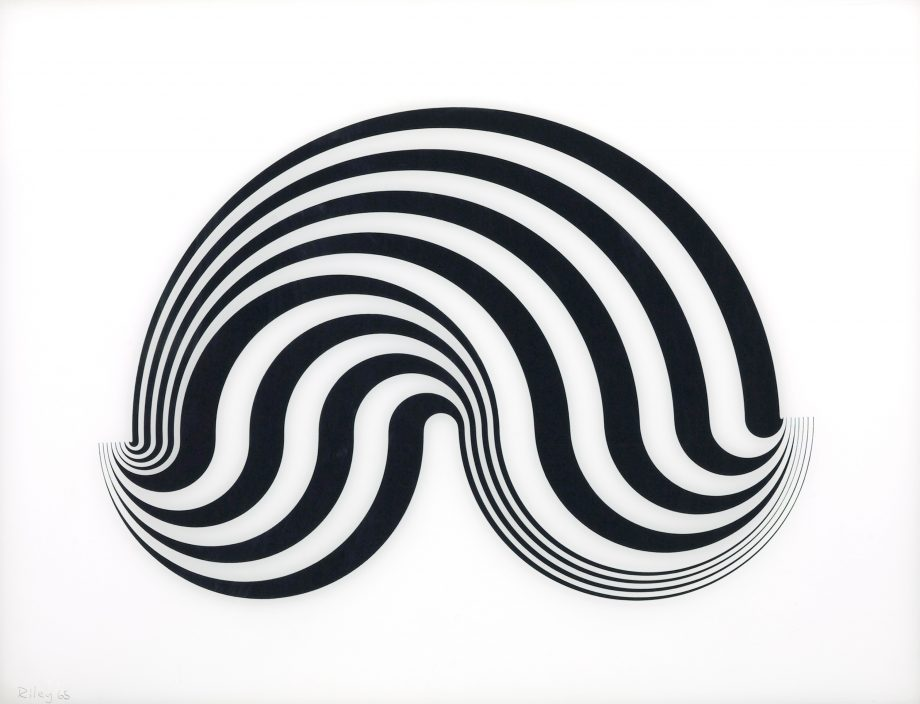 Untitled (Fragment 5), screen print on plexiglass, 1965, by Bridget Riley (b.1931), 24in by 31 1⁄3in, private collection.