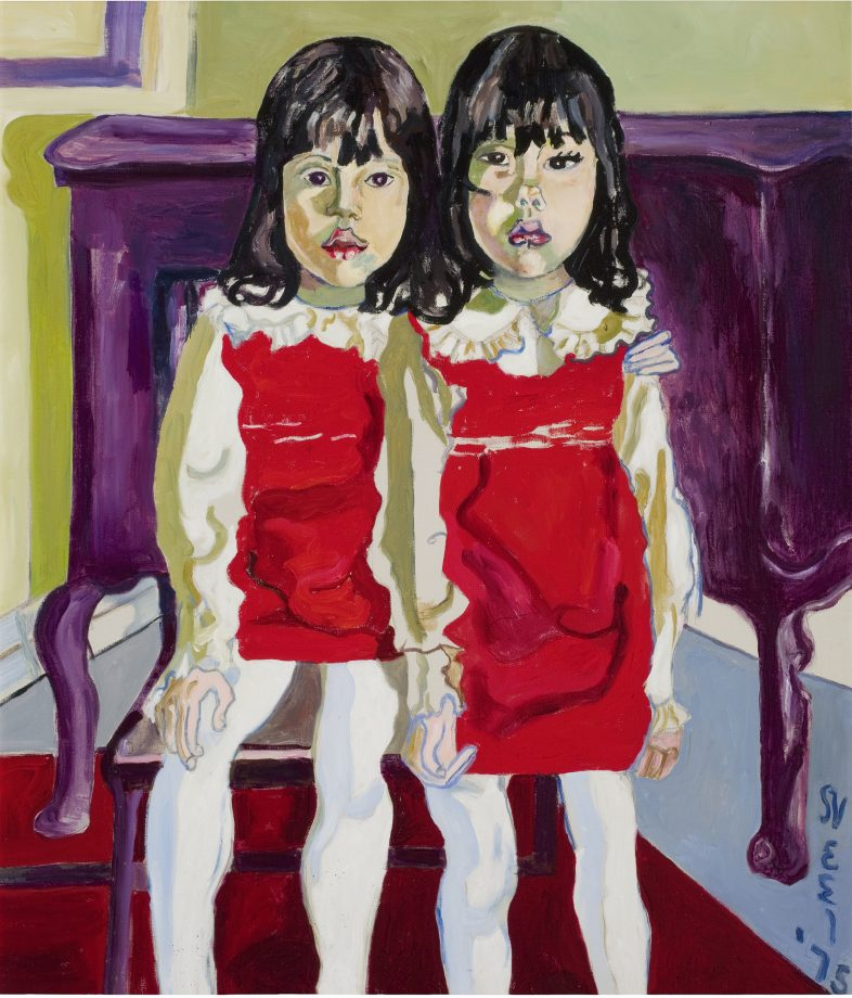 'The De Vegh Twins' by Alice Neel (1900-84). ©The Estate of Alice Neel; reproduced by courtesy of The Estate of Alice Neel and David Zwirner
