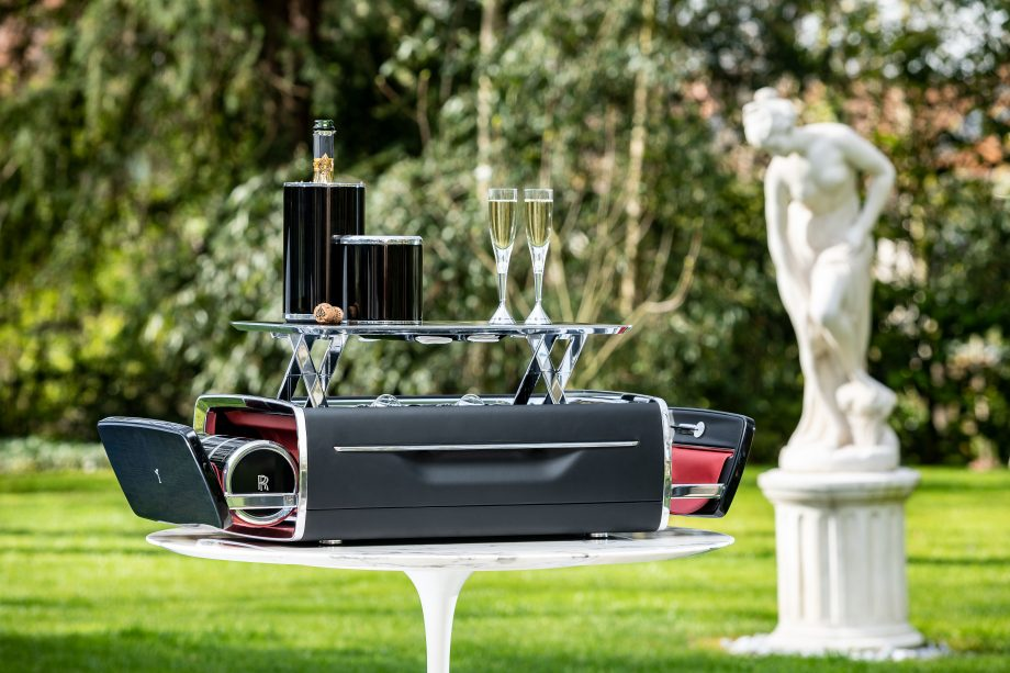 The Rolls-Royce Champagne Chest - al fresco. Image courtesy Rolls-Royce Motor Cars