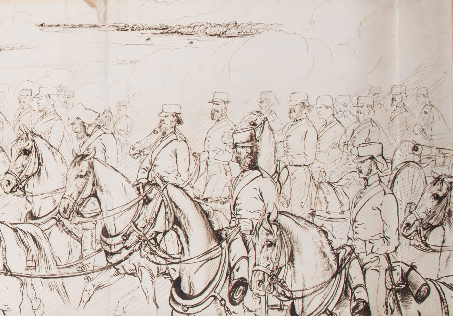 Panorama of British forces advancing on Bareilly, in pen and ink, by Lt-Gen Henry Crealock. This picture sold at Olympia Auctions for £11,700. Credit: Olympia Auctions