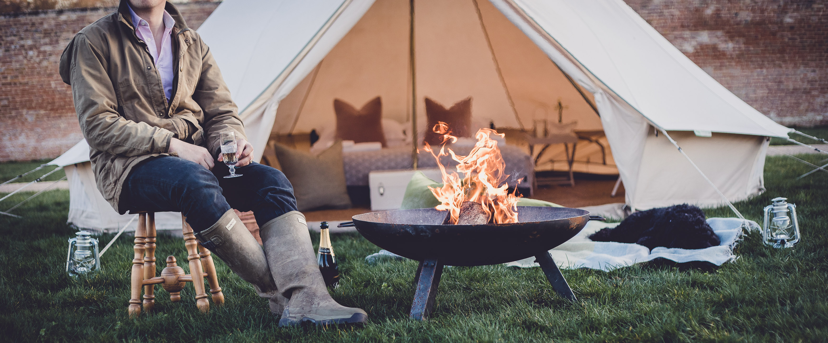 Glamping DIY: Taking a bit of interior chic with you when you're out and about this summer