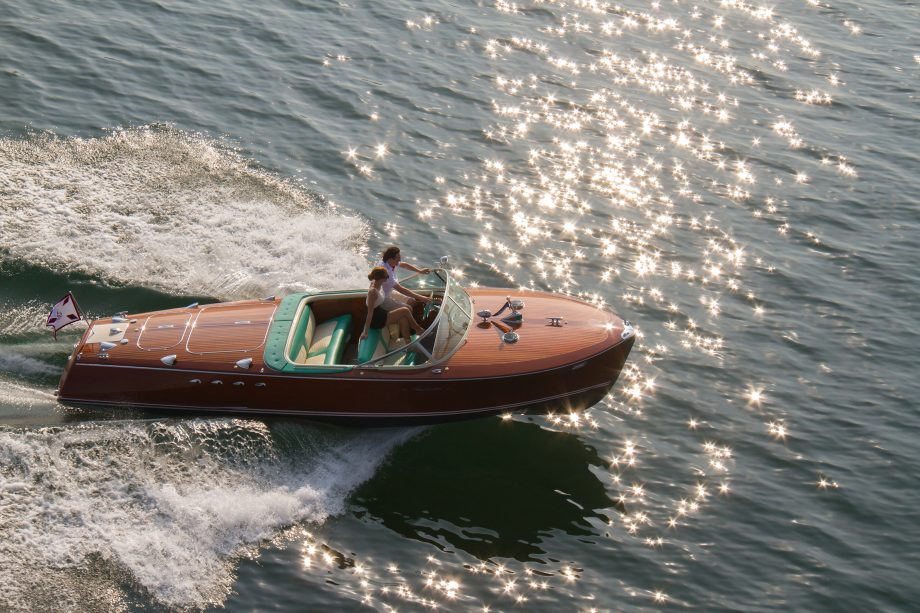 The Ventura Riva Trittone moto launch, for sale via the Ferretti Group at Masterpiece.