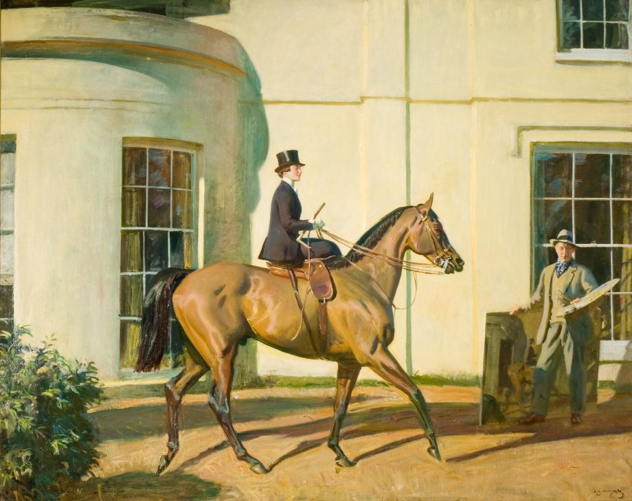 My Wife, My Horse and Myself, 1928–35, by Sir Alfred Munnings (1878–1959), 40in by 50in, The Munnings Art Museum, Dedham, Essex
