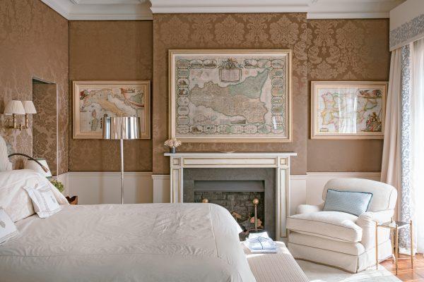 A Nina Campbell Designed Bedroom Where, Nina Campbell Bedding