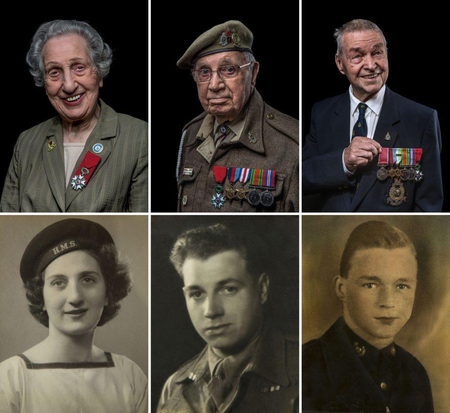D-Day veterans (l to r) Marie Scott, William 'Arthur' Jones and Eric Carter
