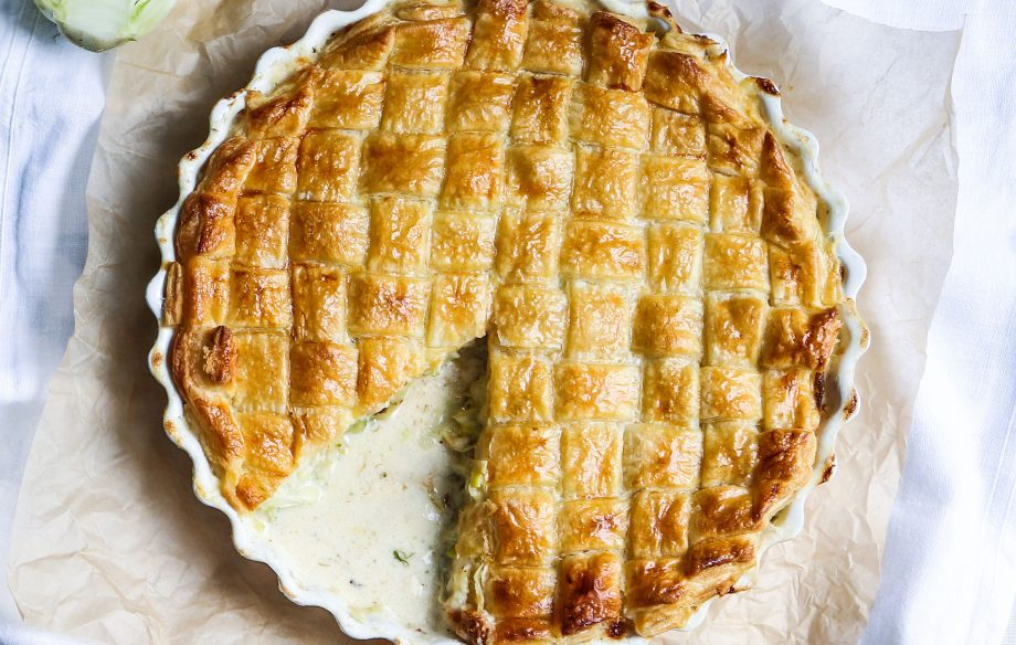 Seafood and fennel pie