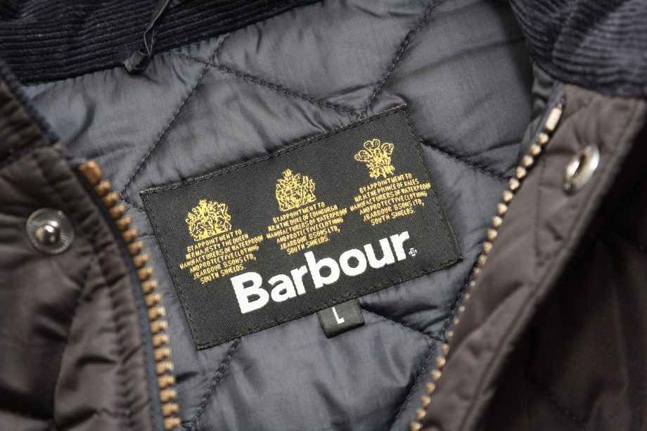 A label in a Barbour coat