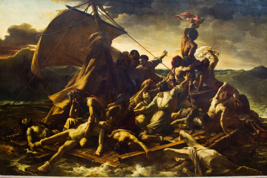 Theodore Gericault's 'The Raft Of The Medusa', which hangs in the Louvre.