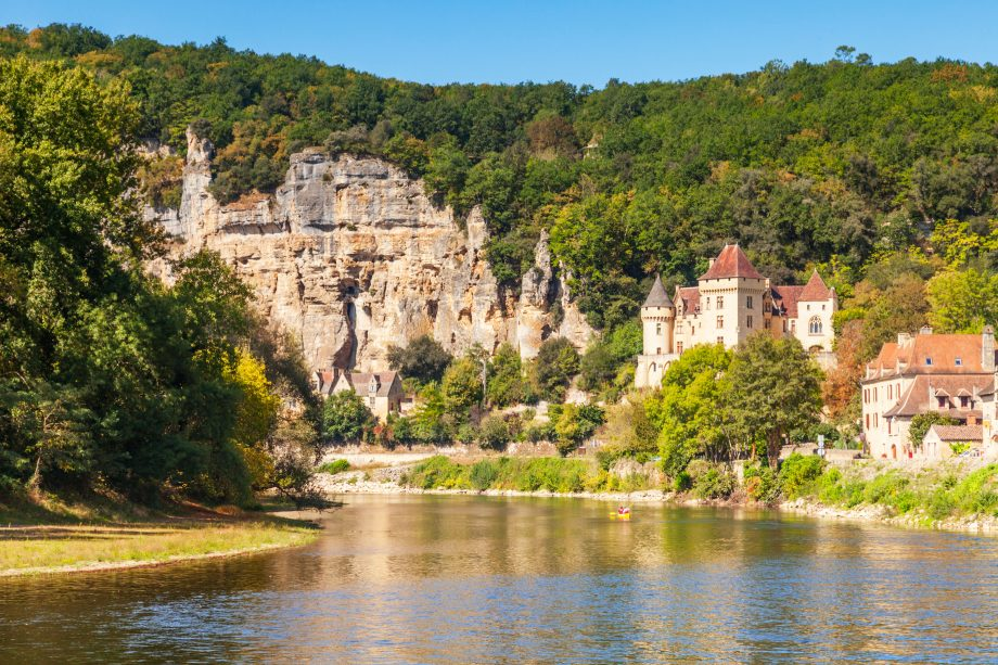 The Dordogne Valley is full of spots such as La Roque-Gageac, with the beautiful Chateau de la Marartrie.
