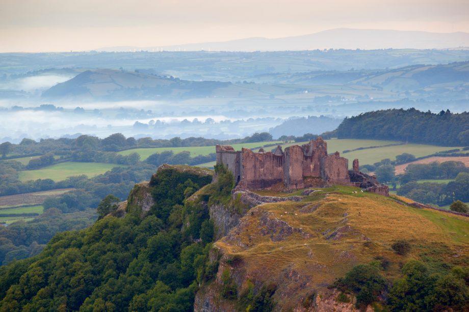 Carreg Cennen Castle, near Llandeilo, Brecon Beacons National Park, Carmarthenshire