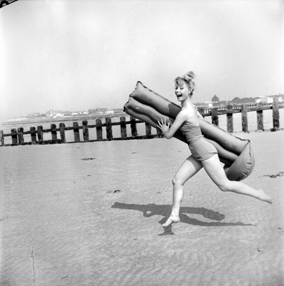Holiday fun in the sun at Minnis Bay near Margate, Kent in 1960.