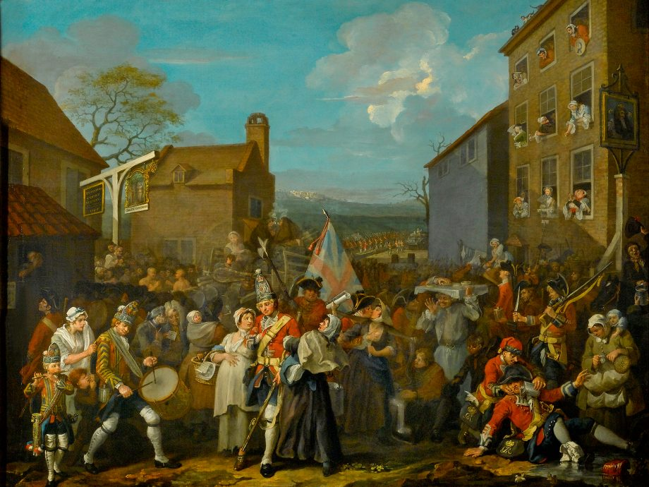 William Hogarth's 'The March of the Guards to Finchley'