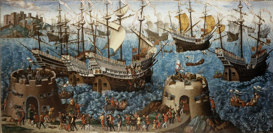 The Embarkation of Henry VIII at Dover, c.1520-40 (oil on canvas)